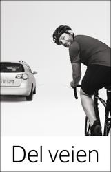 Denne blide syklisten bidro til redusert konfliktnivå mellom syklister og bilister i Maridalen