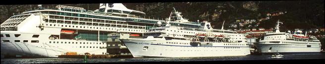 Cruiseskip i Bergen. Foto