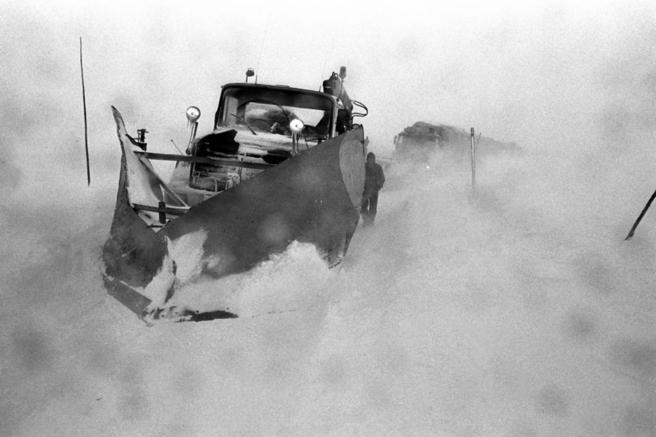 Brøytebil på Rv 7, foto
