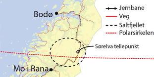 Kart Saltfjellet