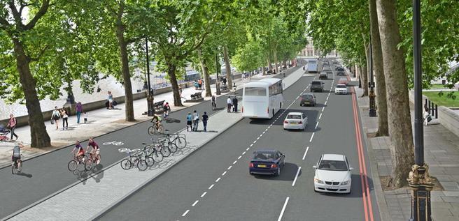 Grafikk av mulig fremtid i London