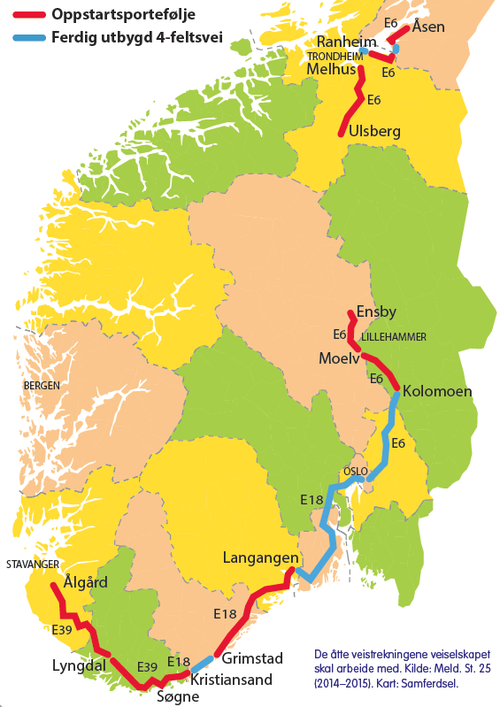 Kart veiprosjekter