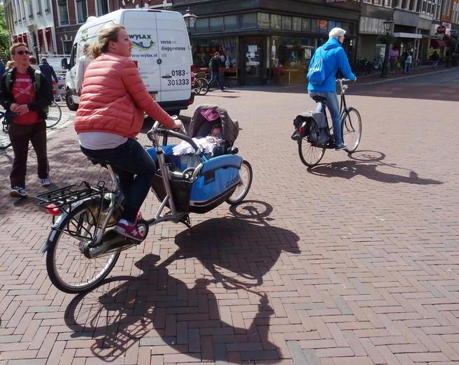 Sykkel i Leiden. Foto