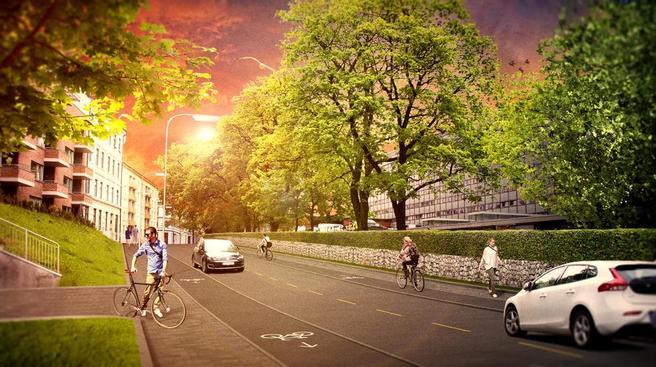 Åkebergveien. Foto
