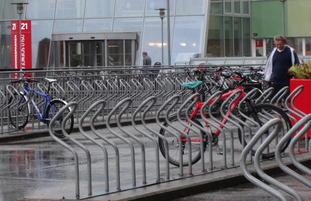 Sykkelparkering Foto