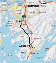 Kart Bergen-Os