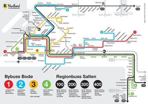 Bodø-bussen Linjekart