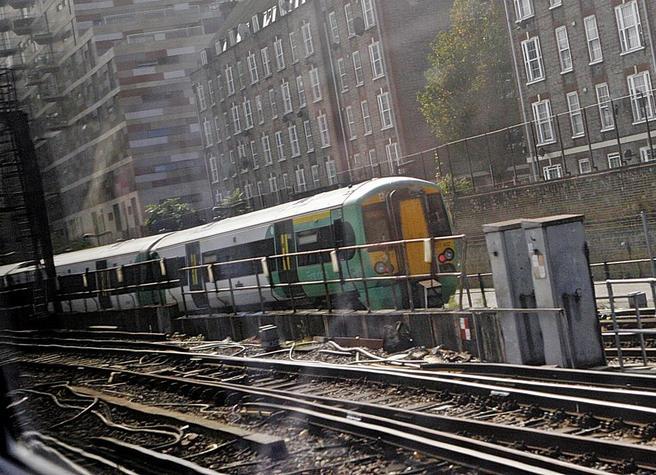 Foto. Jernbanen i London