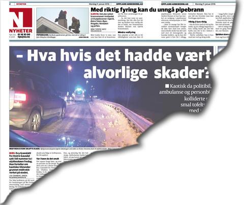 Faksimile fra Oppland Arbeiderblad