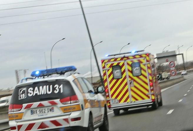 Trafikkulykke i Frankrike. Foto