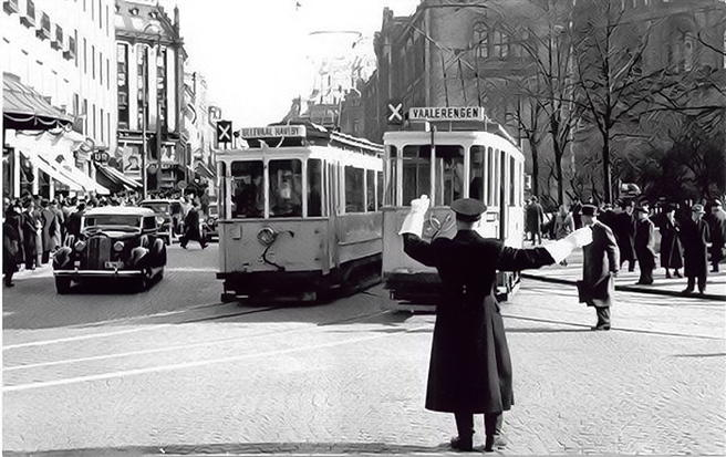 Foto. Oslo sentrum 1946. Oslo byarkiv