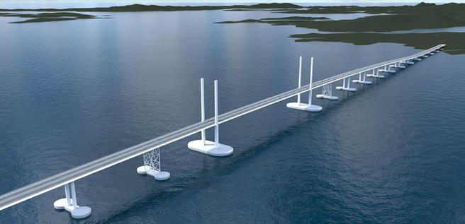 Skisse bro Bjørnefjorden