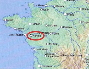 Kart over vest-frankrike