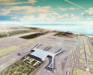 Illustrasjon ny flyplass