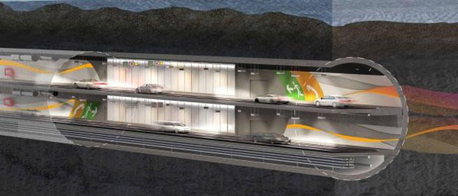 Illustrasjon tunnel