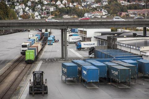 Foto Bergen godsterminal på Nygårdstangen