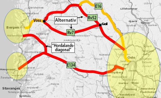 Kart over veivalg