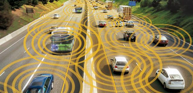 Selvkjørende kjøretøy illustrasjon