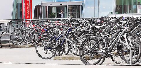 Sykkelparkering sommer