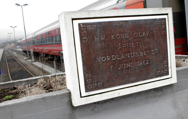 I dag stanser jernbanen i Bodø. Foto: F. Dahl.