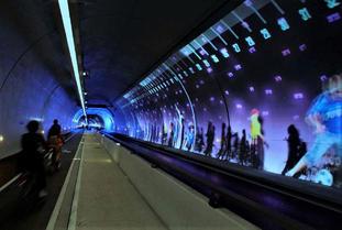 Illustrasjon sykkeltunnel