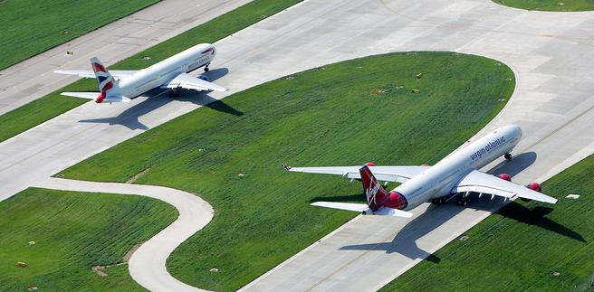 Heathrow, en av verdens travleste flyplasser, ønsker å fremstå som ren og grønn. Foto: Heathrow Airport.