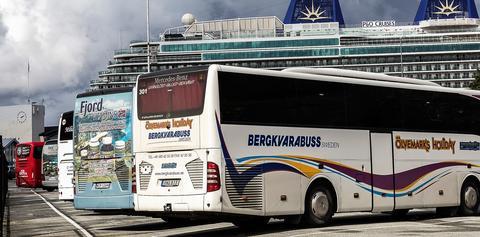 Havnevesenet har åpnet Festningskaien for henstilling av turistbusser, for å avhjelpe noe av trafikkaoset slike busser skaper.