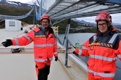 Hans Jack Arntsen, fungerende prosjektleder, og Dagrunn Kaasen, delprosjektleder, ser frem til å ønske velkommen til bruåpning neste sommer.
