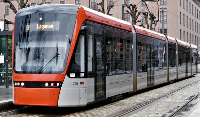 Den foreslåtte bypakken skal bidra til mye, inklusive forlengelser av Bybanen. Foto: F. Dahl.