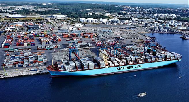 «Konflikten er ikke bare en lokal og regional sak, men påvirker hele den svenske import- og eksportstrømmen», skriver Göteborgs Hamn på sine hjemmesider. Foto: Göteborgs Hamn.