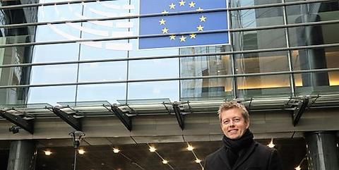 Statssekretær Tommy Skjervold i Brussel for å fremme norske interesser. Foto: Mathias Ulstein/Mission of Norway to the EU.