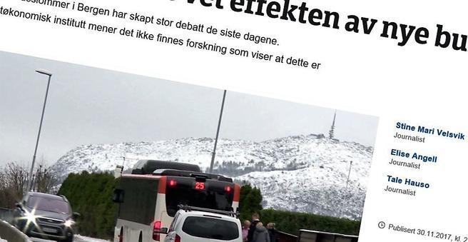 NRK er blant nyhetsmediene som har omtalt debatten om kantsteinstopp kontra busslommer.