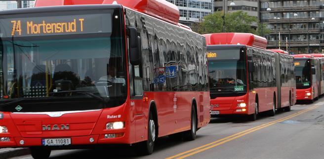 Bussen er arbeidshest nummer én i hovedstadsområdets kollektivtrafikk. Foto: F. Dahl.