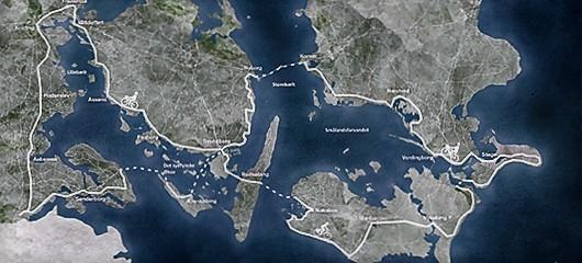«En opplagt reisedestinasjon for sykkelturister fra hele verden», skriver Vejdirektoratet om Østersøruten. Kart: Vejdirektoratet.