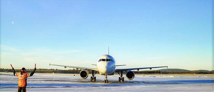 Flyplassen i Kittilä, en av de tre som blir oppgradert. Foto: Finavia.