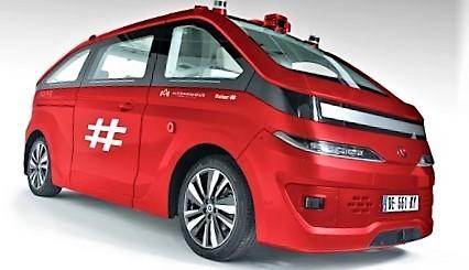 Selvkjørende minibusser i Oslo. Noe sånt som dette … Meningen er å utprøve ulike minibuss-konsepter. Illustrasjon: Ruter.