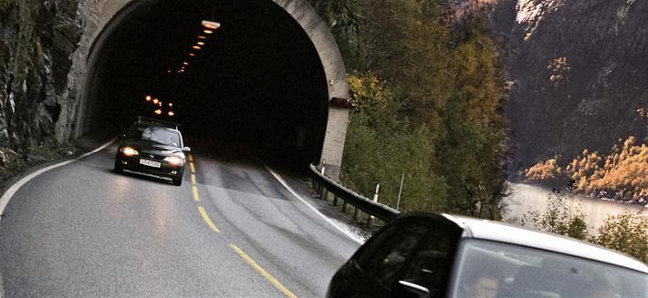 Sikkerhet for syklister i tunneler – en utfordring.