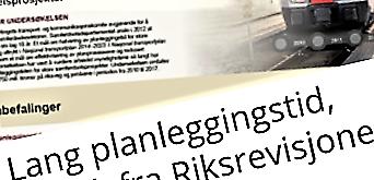 Martin Lund-Iversen viser til en nylig rapport fra Riksrevisjonen, omtalt på Samferdsel 25. oktober.