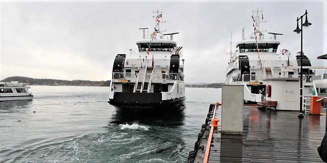 De skal bli godt grønne, båtene som forbinder Aker brygge med Nesodden. Foto: Ruter.
