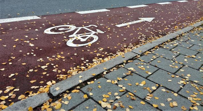 Sykkelfelt i veibanen, én av flere typer tilrettelagt sykkelinfrastruktur. Foto: F. Dahl