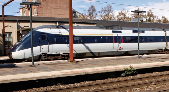 Det danske toget sliter med å holde på passasjerene. Foto: F. Dahl