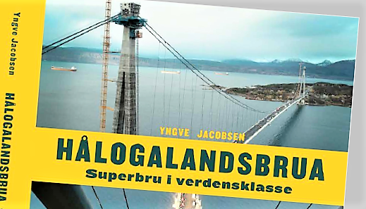 Ny bro og ny bok. Illustrasjon: Utsnitt fra bokforsiden.