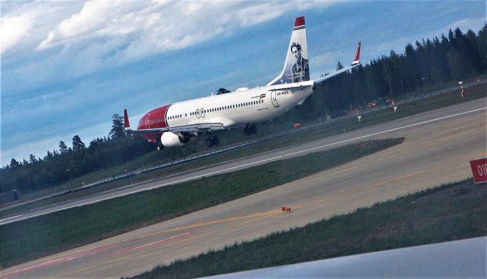 Norwegian, her på Gardermoen, dro forbi SAS og ble største Avinor-kunde målt i antall passasjerer. Foto: F. Dahl.