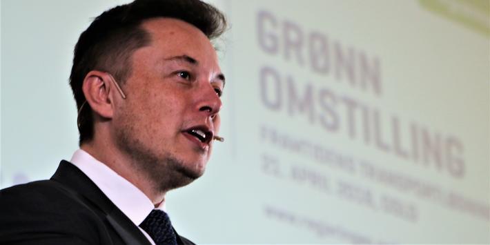 Tesla-nøkkelmann Elon Musk, her under et av sine besøk i Oslo. Nå er han utpekt som bidragsyter til et grønnpreget salg av taxfree-varer på norske flyplasser. Foto: F. Dahl