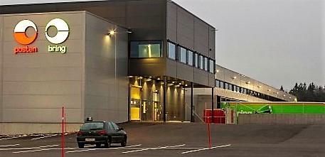 Det nye logistikksenteret ligger i Borgeskogen industriområde. Foto: Posten
