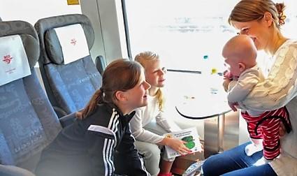 «Gratis» med toget helt opp til seks års alder. Illustrasjonsfoto: Tore Bjørback Amblie / NSB