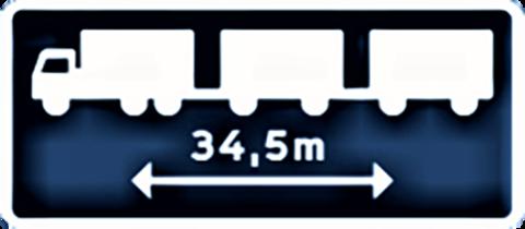Opptil så lange lastebiler … Illustrasjon fra Trafikverkets rapport «Längre lastbilar på det svenska vägnätet – för mer hållbara transporter.»