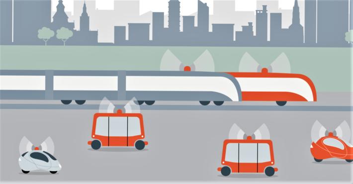 Selvkjøring. Den 80 sider tykke studien bærer tittelen «The Oslo study – How autonomous cars may change transport in cities». For interesserte som måtte foretrekke lokalt språk: Fem av sidene i studien er brukt til et sammendrag på norsk. Illustrasjon: Fra studiens forside
