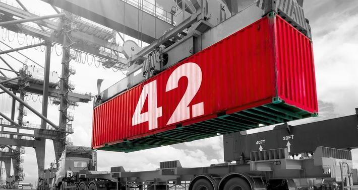 Smart container. Container 42, som den kalles, har lagt ut på en lang datainnsamlingsreise. Illustrasjon: Grant Pinkney (Kramer)