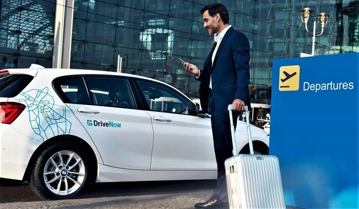 Med en smartphone og app bestiller du og betaler for leiebil samt ordner parkering og lading av batteriene. Foto: DriveNow